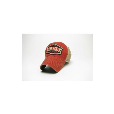 NC State Legacy Wedge Meshback Adjustable Hat