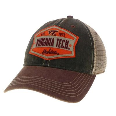 Virginia Tech Legacy Wedge Meshback Adjustable Hat BLK/BURG/MESH