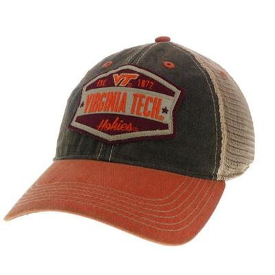 Virginia Tech Legacy Wedge Meshback Adjustable Hat BLK/ORG/MESH