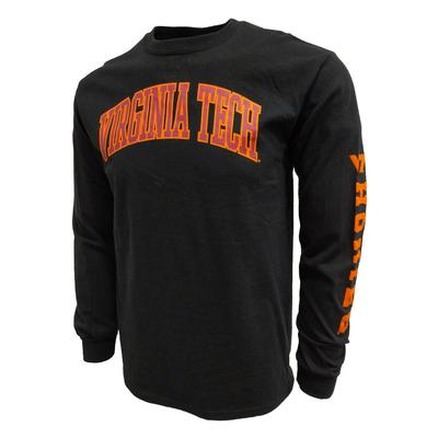 Virginia Tech L/S Arch Tee BLACK