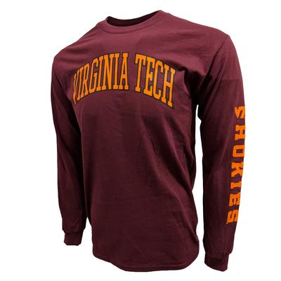 Virginia Tech L/S Arch Tee MAROON