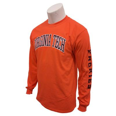 Virginia Tech L/S Arch Tee ORANGE