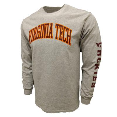 Virginia Tech L/S Arch Tee OXFORD