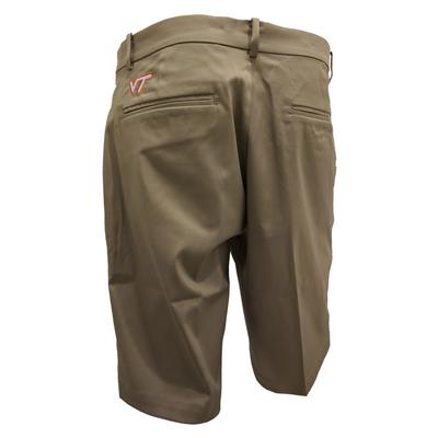 Virginia Tech Nike Golf Flat Front Shorts KHAKI