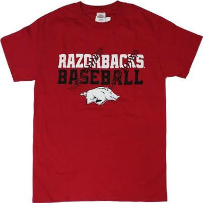 Arkansas Razorbacks Baseball Laces T-shirt