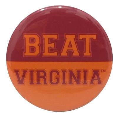Maroon & Orange Beat Virginia Button