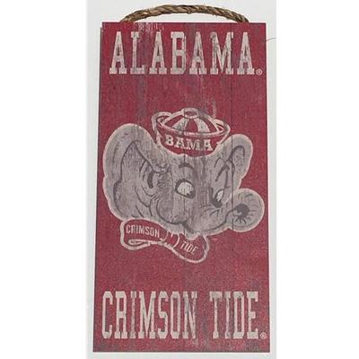 Alabama Heritage Distressed Mascot Sign (6