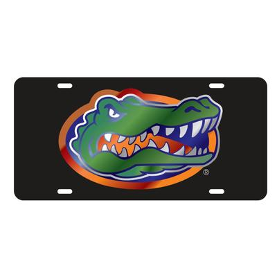 Florida License Plate Black Gator Head