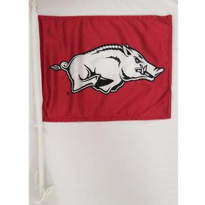 Arkansas Razorbacks Car Flag (Cardinal)