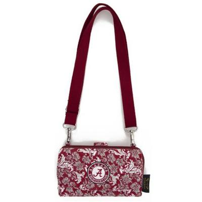 Alabama Eagle Wings Bloom Crossbody Wallet