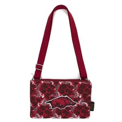 Arkansas Eagle Wings Bloom Crossbody Purse