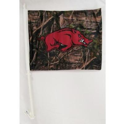Arkansas Razorbacks Car Flag (Camo)