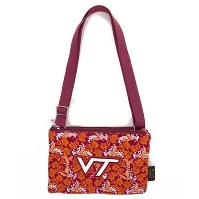 Virginia Tech Eagle Wings Bloom Cross Body Purse