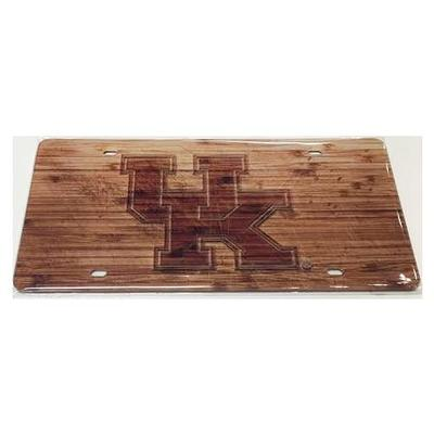 Kentucky Wood Grain Finish License Plate