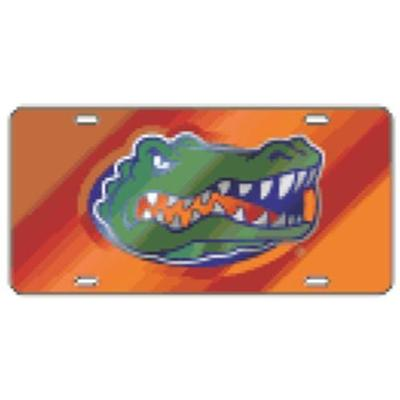 Florida License Plate Orange Gator Head