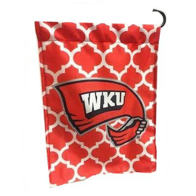 Western Kentucky Quatrefoil Garden Flag