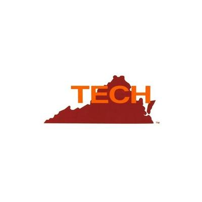 Virginia Tech Retro State Decal (4in)