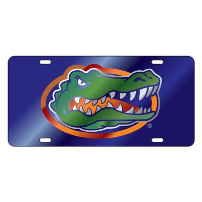 Florida License Plate Blue Gator Head