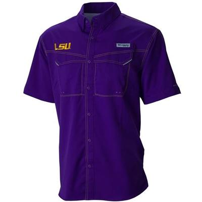LSU Columbia PFG Low Drag Offshore Shirt