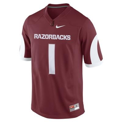 Arkansas Nike Football Game Jersey Master #1