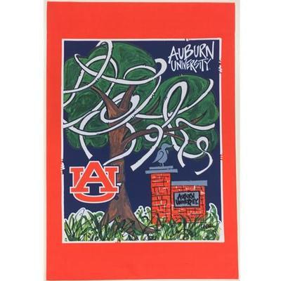 Auburn Magnolia Lane Toomer's Trees Garden Flag