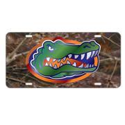 Florida Camo License Plate Gator Head