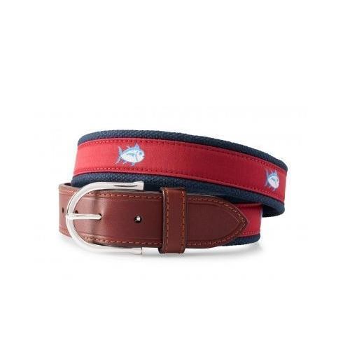 Southern Tide Skip Jack Belt (Crimson)