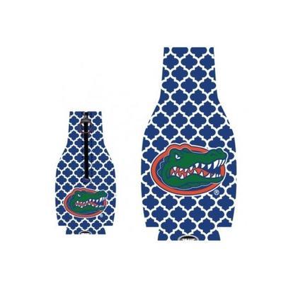 Florida Quatrefoil Bottle Coozie