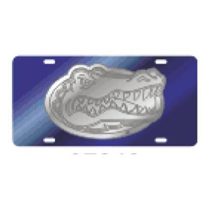 Florida License Plate Gator Head Blue