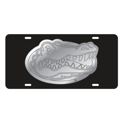 Florida License Plate Gator Head Black