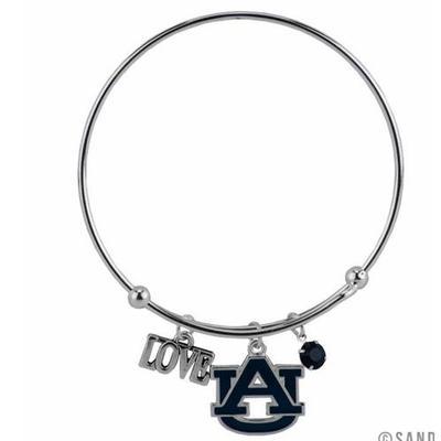 Auburn Love Charm Coil Bracelet