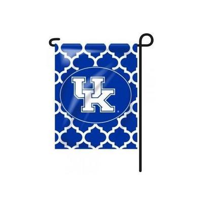 Kentucky Quatrefoil Garden Flag