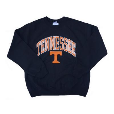 Tennessee Arch With Logo Crew Sweatshirt BLACK