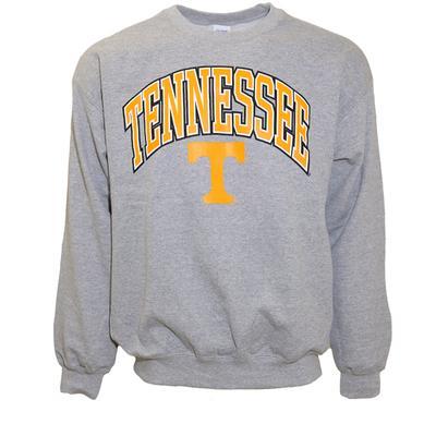 Tennessee Arch With Logo Crew Sweatshirt GREY