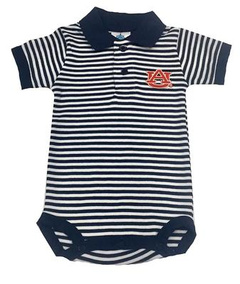 Auburn Infant striped polo Bodysuit