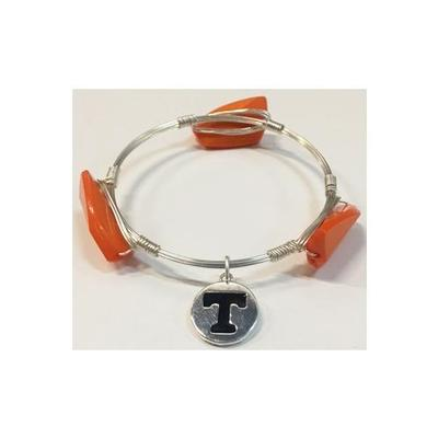 Tennessee Dangle Charm Wire Bracelet