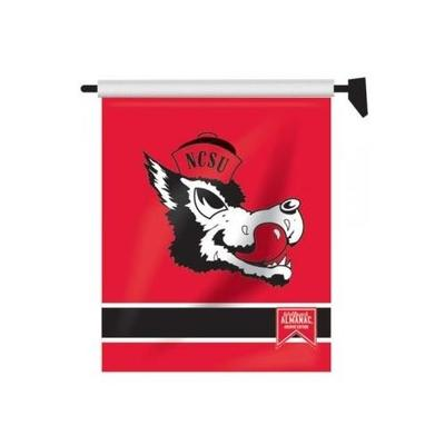 North Carolina State Retro Wolfie Garden Flag