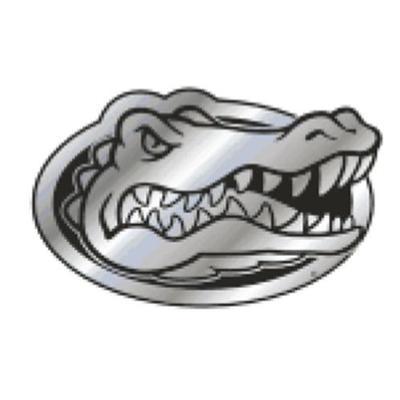 Florida Car Magnet Chrome Gator Head