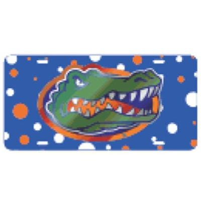 Florida License Plate Gator Head Dots