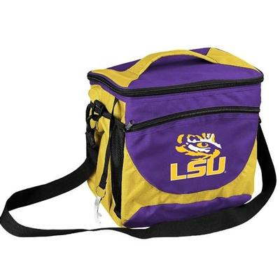 LSU Logo Chair 24 Can Cooler With Bottle Opener