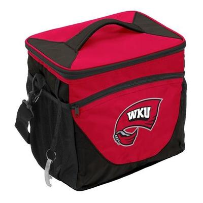 Western Kentucky Logo Brands 24 Can Cooler With Bottle Opener