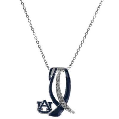 Auburn Ribbon Sparkle Necklace