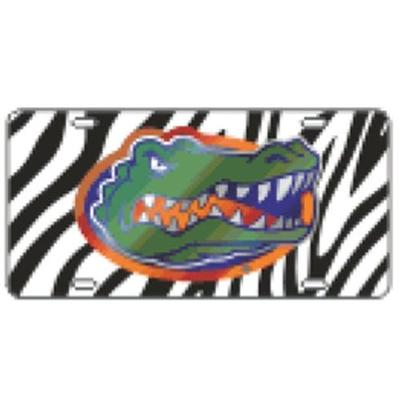 Florida License Plate Gator Head Zebra