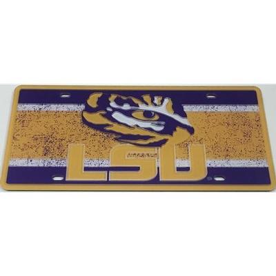 LSU License Plate Vintage Logo