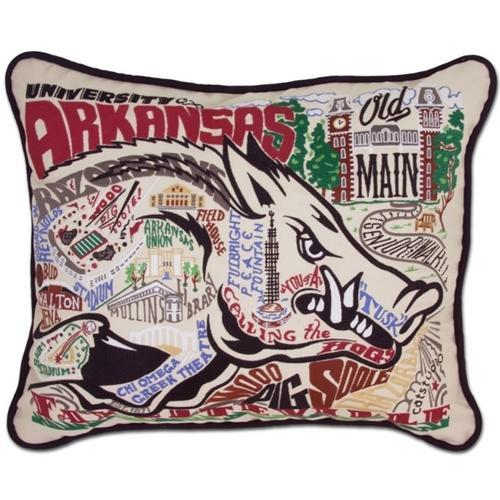 Arkansas Hand Embroidered Pillow