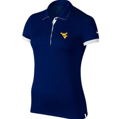 West Virginia Nike Golf Women's Victory Color Block Polo