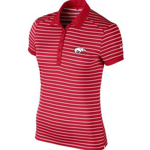 Arkansas Nike Golf Women's Victory Stripe Polo