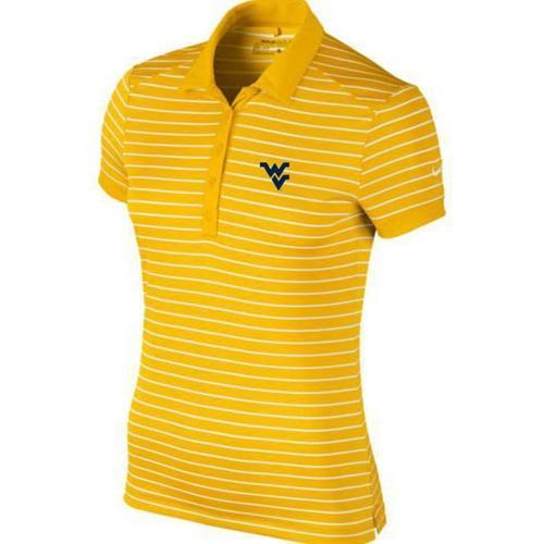 West Virginia Nike Golf Women's Victory Stripe Polo