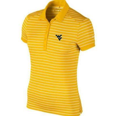 West Virginia Nike Golf Women's Victory Stripe Polo