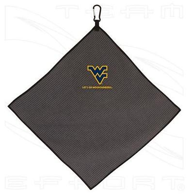 West Virginia Team Effort Microfiber 15x15 Towel (Grey)